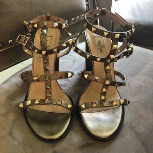 Valentino Rockstud Cage Sandals Size 37